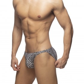 AD772 LEOPARD TAPE JEANS